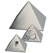 Mini Urn RVS Pyramid